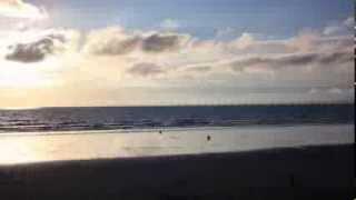 TIME-LAPSE Plage de kervel (baie de Douarnenez, commune de Plonévez Porzay, Finistère, Bretagne)