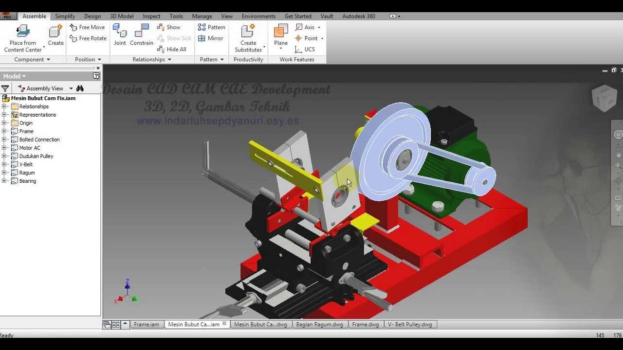 Desain 3D 2D Gambar Teknik Untuk Tugas Akhir Dan Skripsi