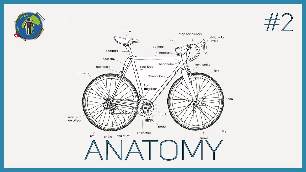Anatomy Of A Bike Frame And Road Http Enwikipediaorg Wiki Listofbicycleparts Https List Bicycle Parts Start With Oneself