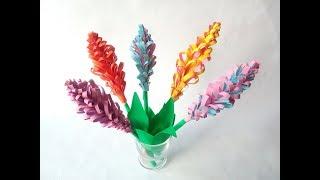 Как сделать гиацинт из цветной бумаги. Бумажные цветы своими руками