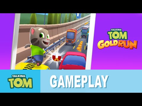 Talking Tom Gold Run - Discover New Worlds (Gameplay)
