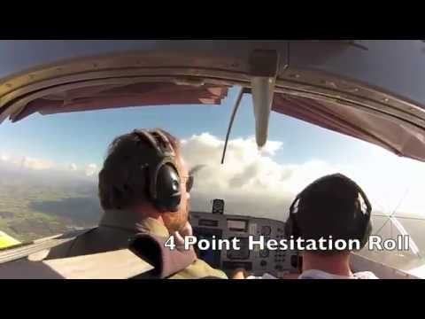 RV7 flight around Auckland Sky City then Aerobatics