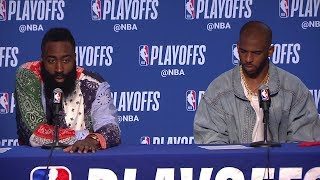 James Harden & Chris Paul Postgame Interview - Game 1 | Rockets vs Warriors | 2019 NBA Playoffs