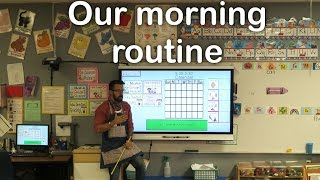 My morning classroom routine and my favorite YouTube channels