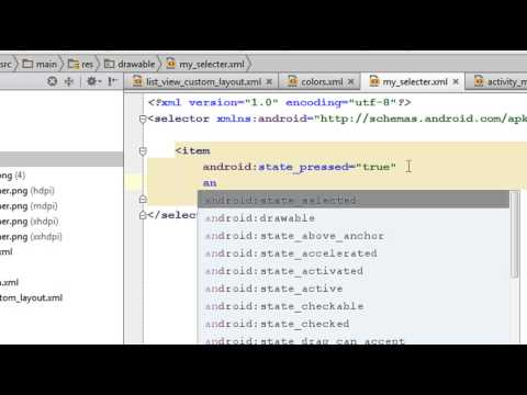 Android Studio Tutorial - 17 - Highlight selected item in a