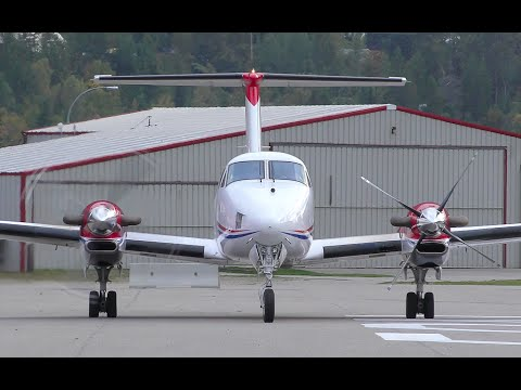Beechcraft King Air 350 Engine Startup and Takeoff