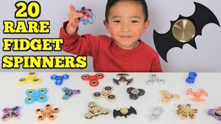 FIDGET SPINNER SURPRISE!! 20  Rare Cool Crazy Spinners Tested By Ckn Toys