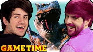 SLAYING TOGETHER IN MONSTER HUNTER 4 ULTIMATE (Gametime w/ Smosh Games)