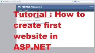 Tutorial : How to create first website in ASP.NET