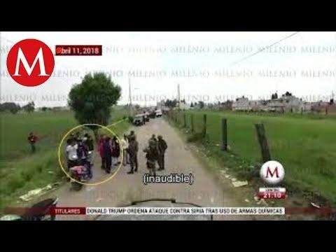 Huachicoleros de Texmelucan Puebla agreden a militares