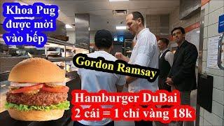 Hamburger Dubai cũng đắt nhất thế giới - Khoa Pug được siêu đầu bếp Gordon Ramsay mời vào bếp