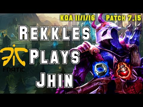 New Start Build! FNC Rekkles Plays Jhin vs Jinx Adc - S7 Ranked | Patch 7.15