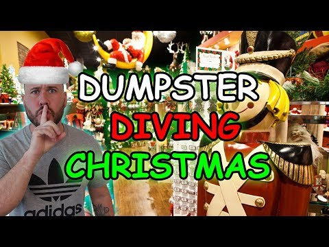 DUMPSTER DIVING FOR CHRISTMAS PRESENTS - YouTube