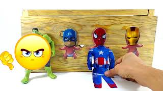 NEW! LEARN THE COLORS WITH babies elephants AND soccer BALLS wrong heads superheroes toys for kids#z