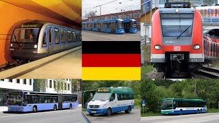 Всё о общественном транспорте в Германии. Метро. Электричка. Автобус. Трамвай. Такси. Цены
