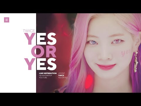 TWICE - YES OR YES Line Distribution (Color Coded) | 트와이스 - 예스오어예스