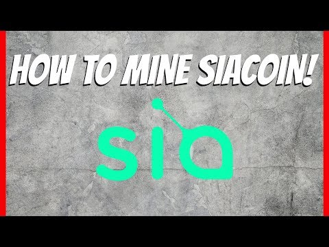How To Mine SiaCoin Tutorial