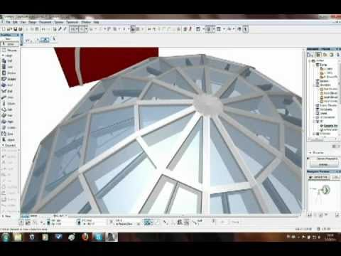 How To Create Dome Shape With The Curtain Wall In Archicad