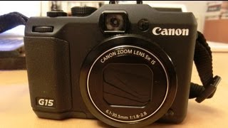 3 useful tips for using Canon Powershot G15