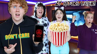24 HOURS IN A HOME MOVIE THEATER CHALLENGE!