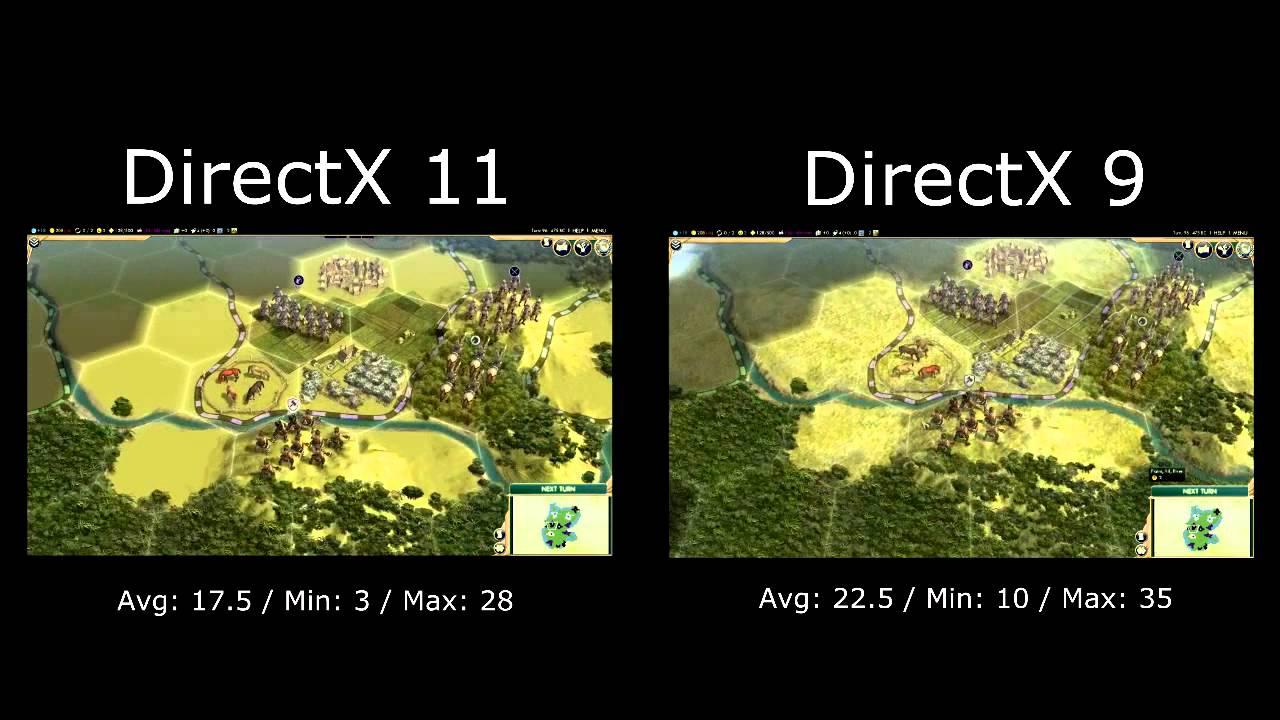 Civilization V Intel HD 3000 i5 2500k Benchmark Test Fraps FPS DirectX 11  Vs DirectX 9
