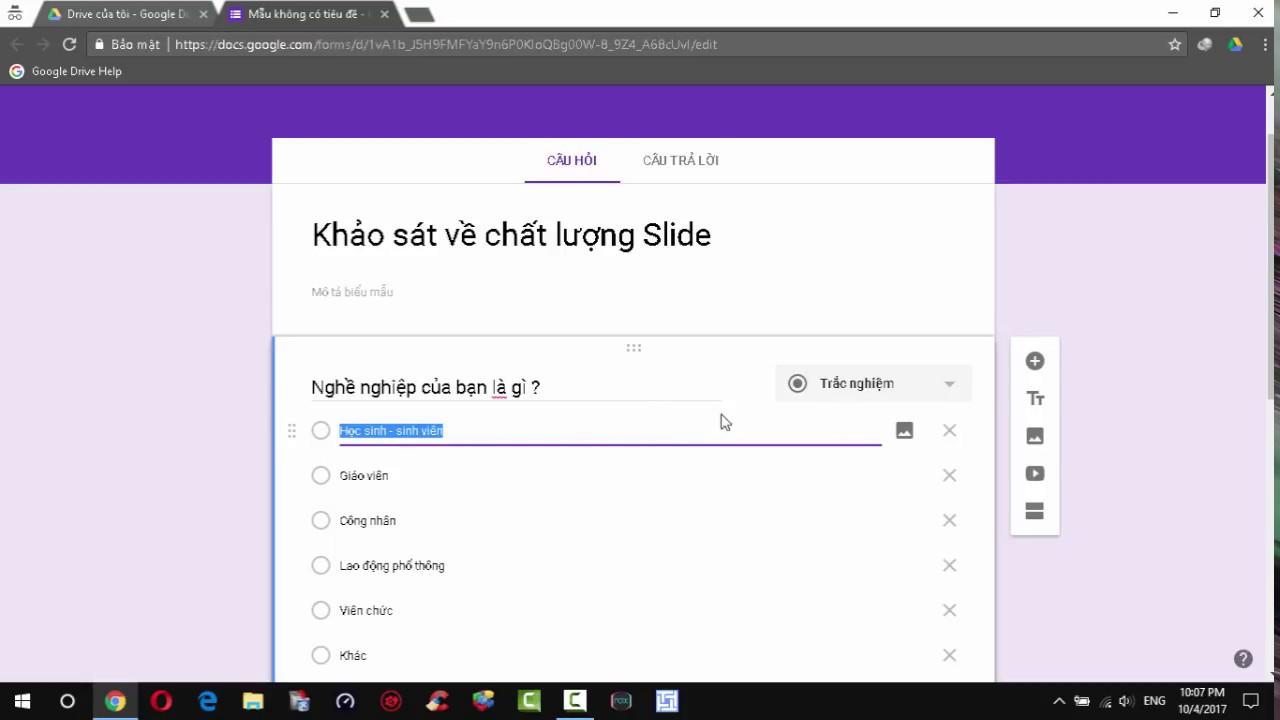 [Google Drive] Cách tạo form biểu mẫu khảo sát trên Google Drive