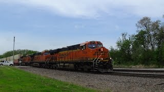 Wave from Slow BNSF Coal Train That Meets Z Train