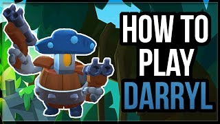 How To Play Darryl! Darryl Guide u0026 Tips From Top Darryl Player [Brawl Stars]