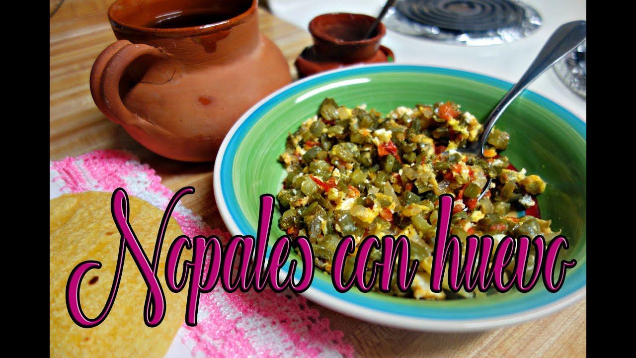 Como cocinar nopales con huevo youtube for Cocinar nopal