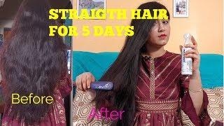 #PHILIPS KERASHINE PROTECTION HAIR STRAIGHTENER REVIEW&DEMO /STRAIGHT HAIR FOR 5DAYS #FLIPKART