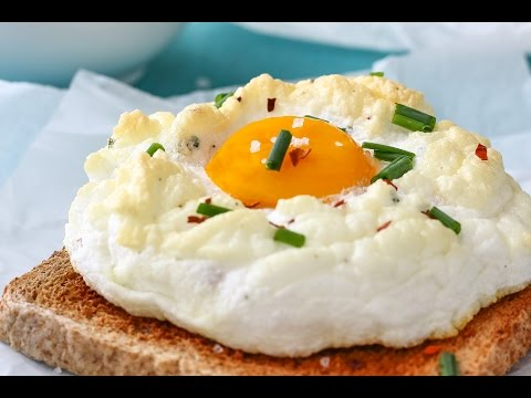 How to make Cloud Eggs (Eggs on a Cloud) | Happy Foods Tube