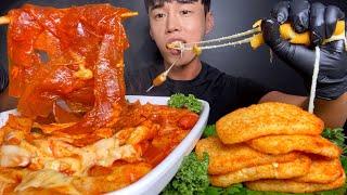 ASMR MUKBANG 엽떡 + 치즈 스틱 + 해시브라…