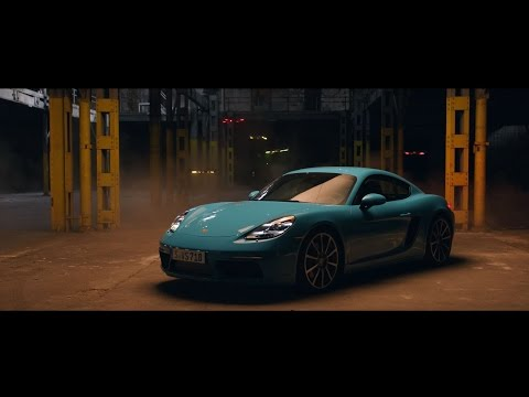 Race drones vs. Porsche 718 Cayman