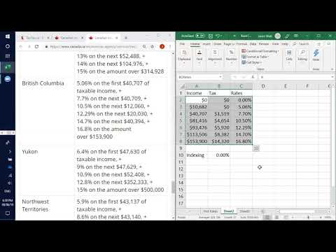 Using Excel for Tax Calcs Jun 2019