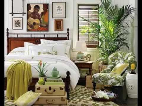 beautiful tropical bedroom design Tropical home decorating ideas - YouTube
