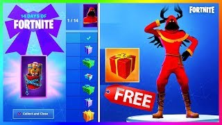 HIDDEN FREE SKIN FOR CHRISTMAS CHALLENGES?! NEW YEAR'S EVE EVENT! | FORTNITE