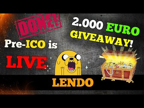LENDO | PRE-ICO IS LIVE !!! JOIN NOW for a chance to WIN 2.000 EURO!!