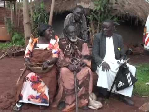 Prince Izimba (the Chief of Kiguru Chiefdom) with Jaja Bujagali