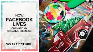 How to use Facebook LIVES to get Prepaid Painters! || Texas Art & Soul
