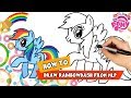 Drawing | Rainbow Dash Equestria Girl | My Little Pony Videos | Cartoon For Kids | Youtube