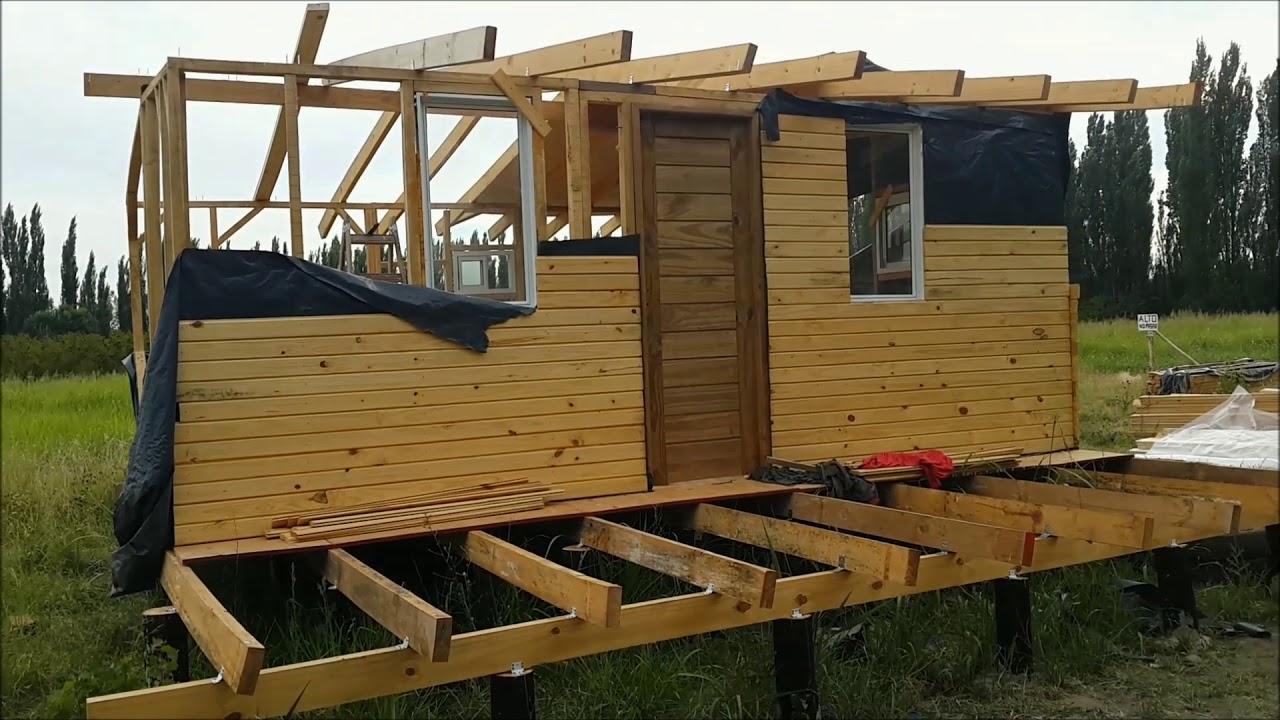 Construcción De Cabaña De Madera Parte 1 Construction Of Wooden Cabin Part 1 Youtube