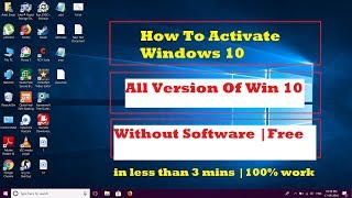 Windows 10 Activation Free 2018 All Versions Without Any Software Or Product key (September 2018)