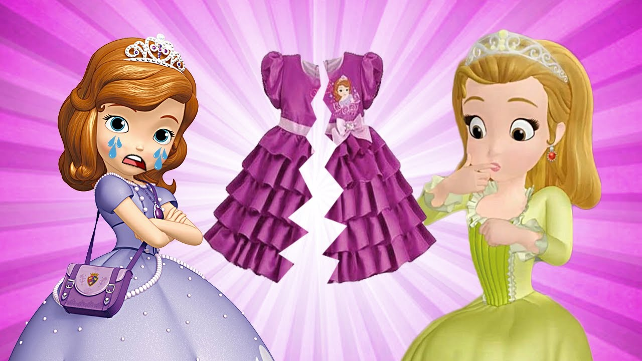 Sofia the First and Princess Amber TORE the DRESS 😱😩 | Funny ...