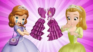 Sofia the First and Princess Amber TORE the DRESS  | Funny Animation For KIDS