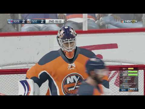 NHL 18: NY Rangers vs NY Islanders - True Broadcast Cam - FULL GAME