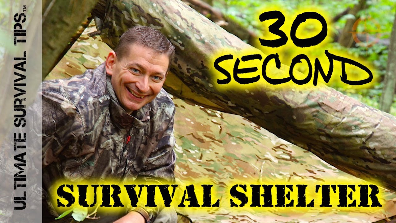 New 30 Second Survival Shelter Hack Opsec Hunting