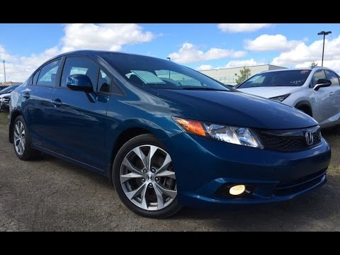 Pre Owned Blue 2012 Honda Civic Man Si Walk Around Review