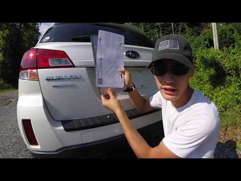 Why YOUR License Plate Frame MIGHT JUST BE ILLEGAL + Custom Frame Installation For SUBIE!
