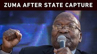 Former President Jacob Zuma addressed his supporters after his appearance at the state capture commission on 19 July 2019. Zuma's decision to no longer participate in the proceedings was withdrawn.