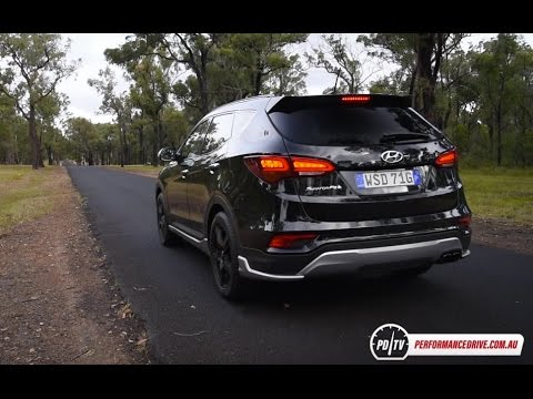2016 Hyundai Santa Fe SR diesel 0 100km h engine sound